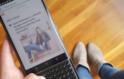 Sarah Scoop mobile website