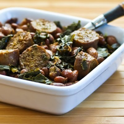 Sausage, Beans and Greens