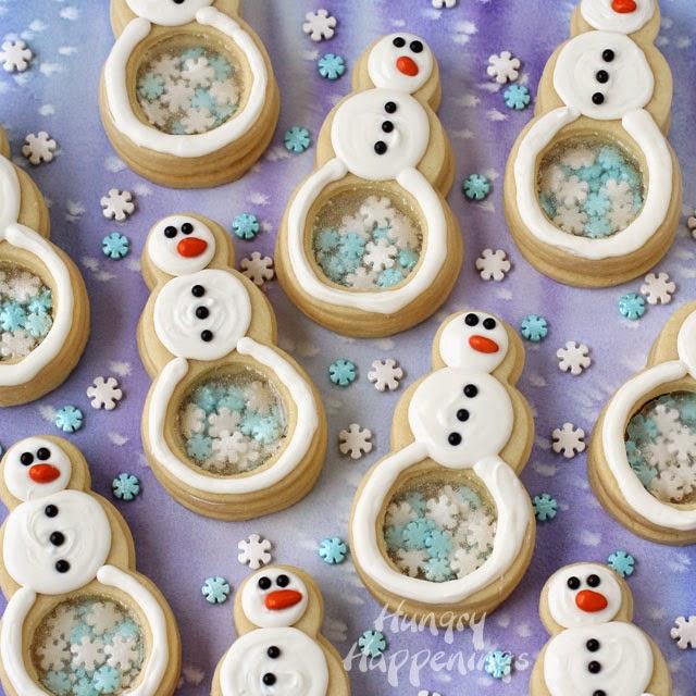 Snowflake-filled-snowman-cookies