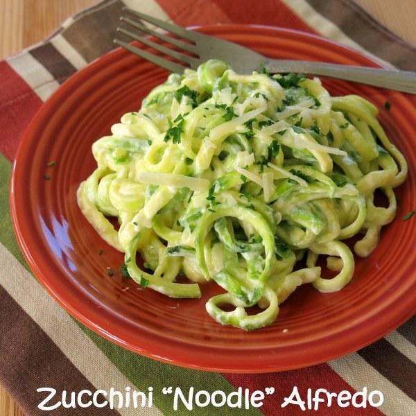 """Zucchini """"Noodle"""" Alfredo"""
