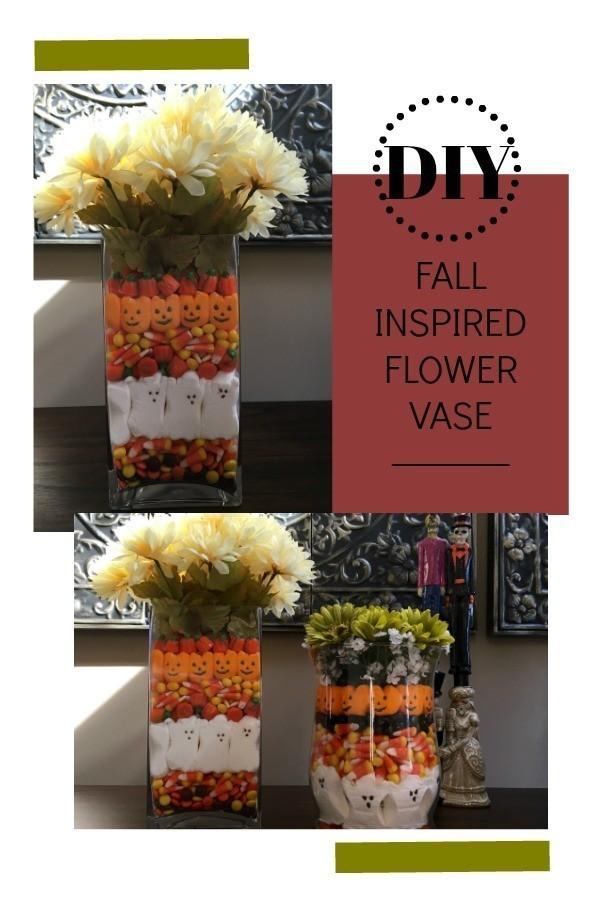 DOY Fall inspired flower vase Pinterest image