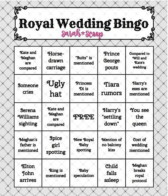 Wedding Bingo: Royal Wedding Bingo Game