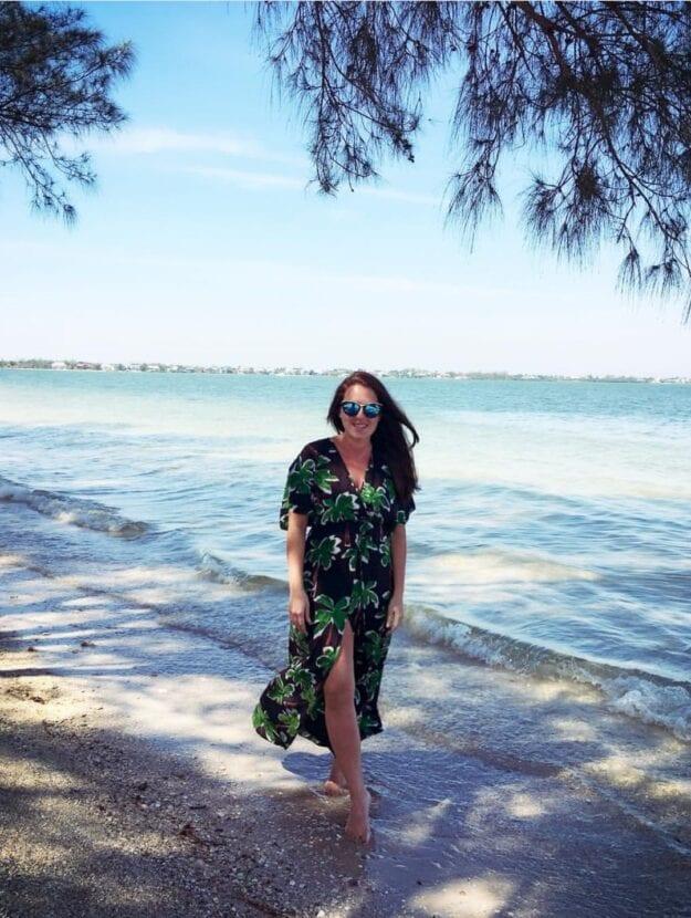 Sarah at the beach
