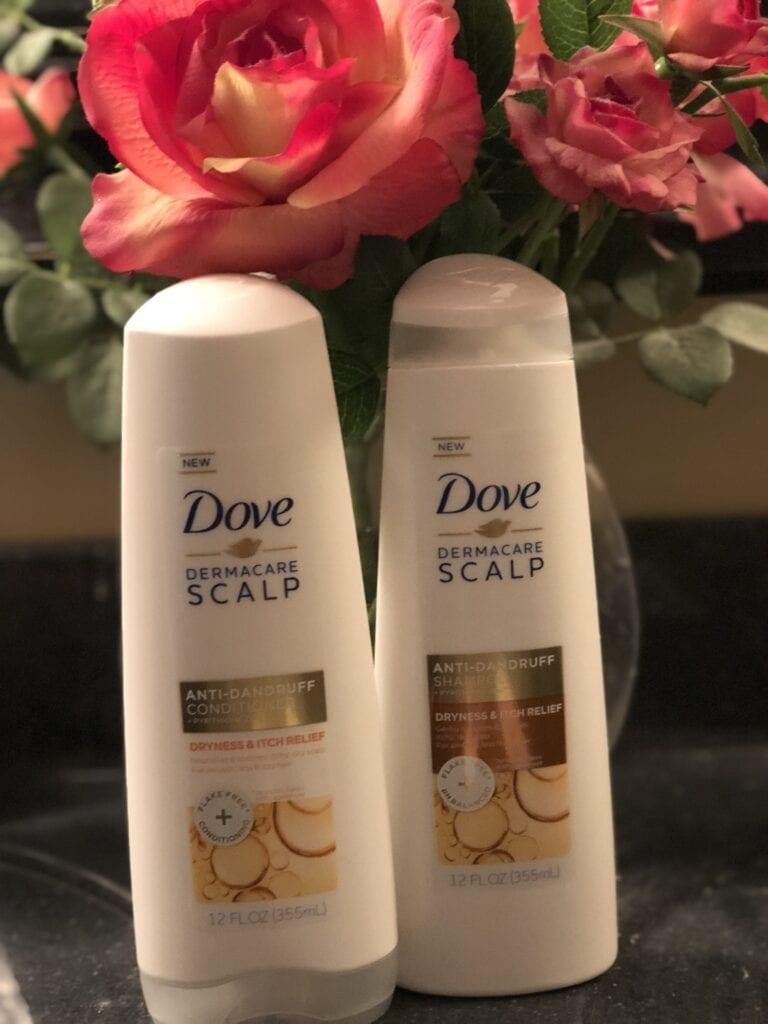 Dove Dermacare Anti-Dandruff shampoo and conditioner bottles