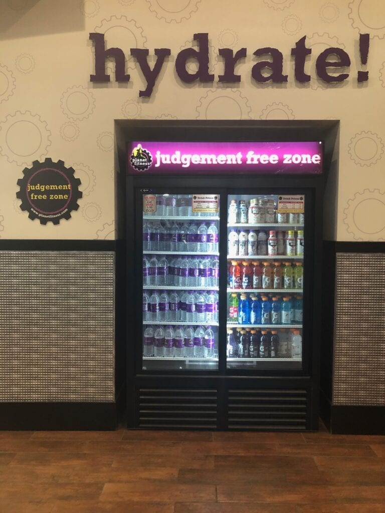 Vending machine with beverages