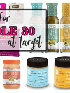 shopping for whole 30 diet at target