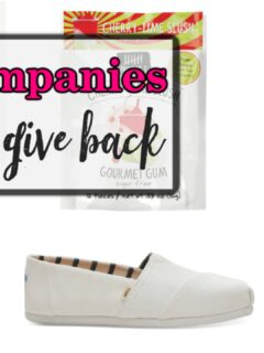 Companies that give back
