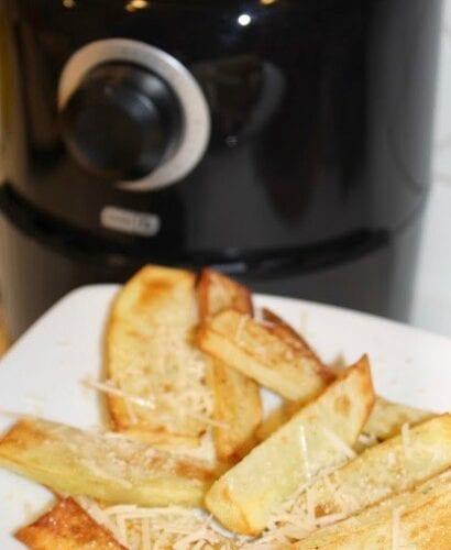 "Alt"" Air Fried Garlic Parmesan Potato Wedges Recipe"""