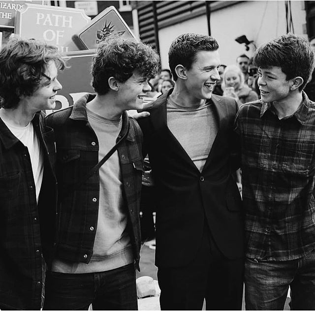 Tom Holland with his 3 brothers