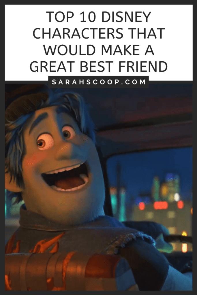 Pinterest image top 10 Disney character best friends
