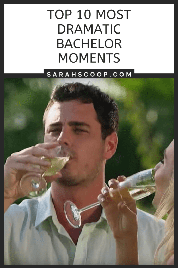 Top 10 most dramatic bachelor moments Pinterest image