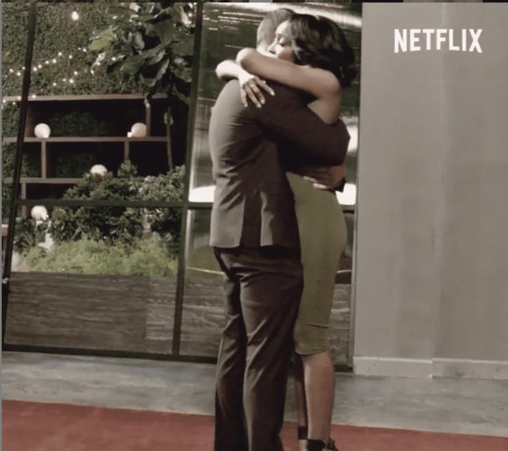 Scene from Love Is Blind on Netflix