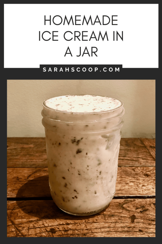 Ice cream in a jar