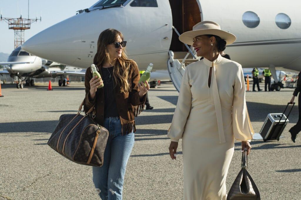 Dakota Johnson stars as Maggie Sherwoode and Tracee Ellis Ross as Grace Davis