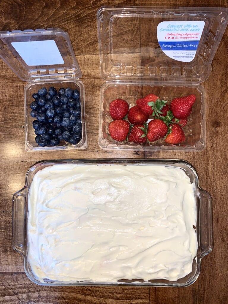 Decorating step of recipe