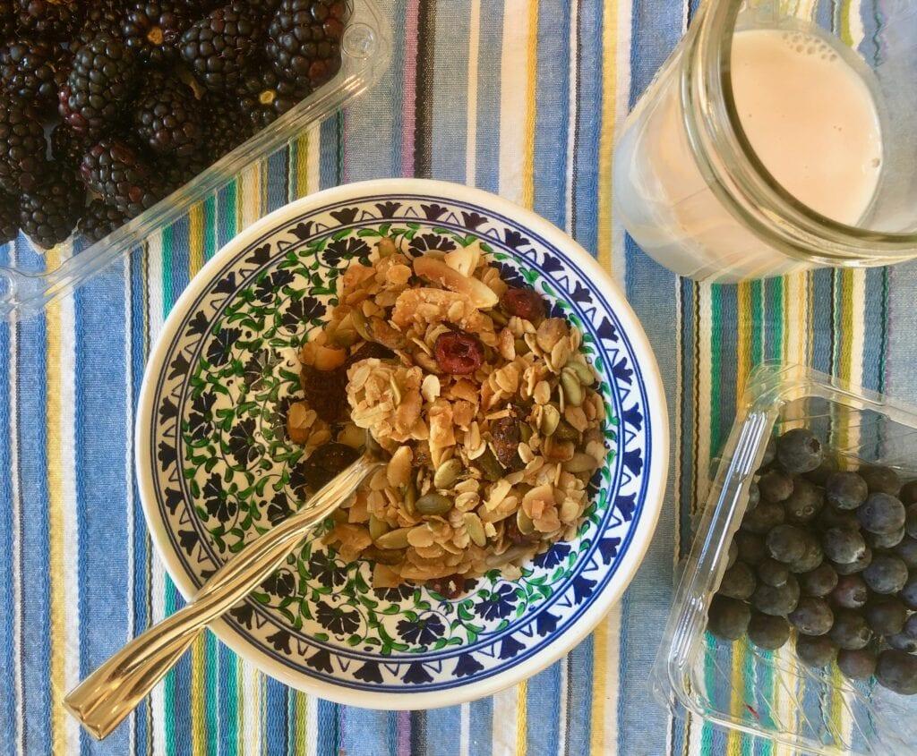 Granola in a bowl