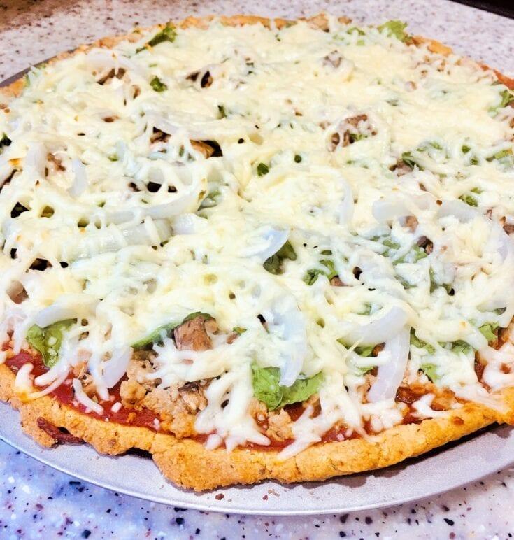 Keto-Friendly Ground Turkey Pizza
