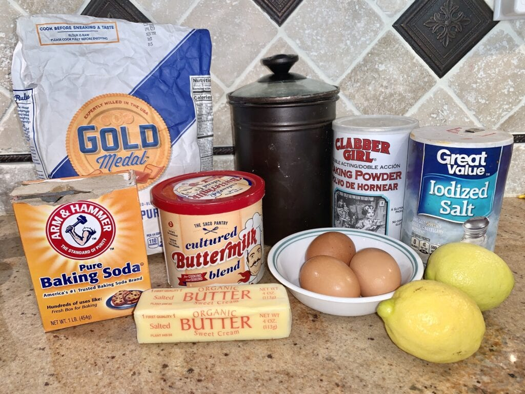 Ingredients needed for recipe