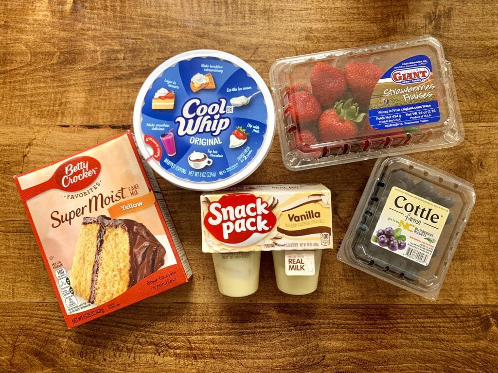 Ingredients needed for poke cake