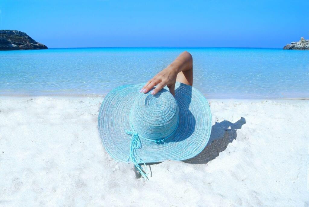 Summer beauty tips woman on the beach