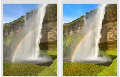 Before vs. After of Snapseed Edit