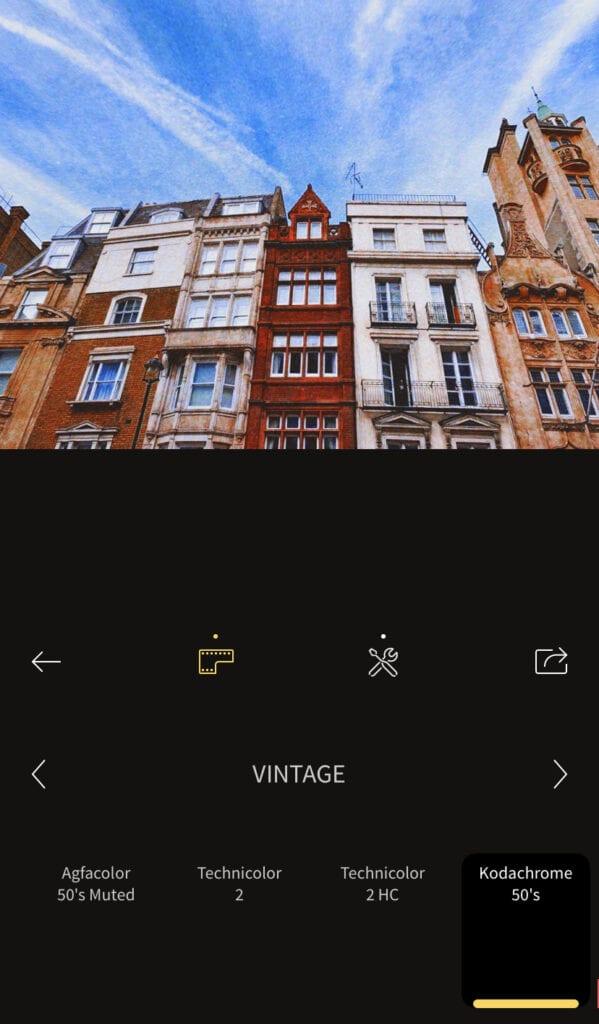 Edit using photo editing app RNI Films