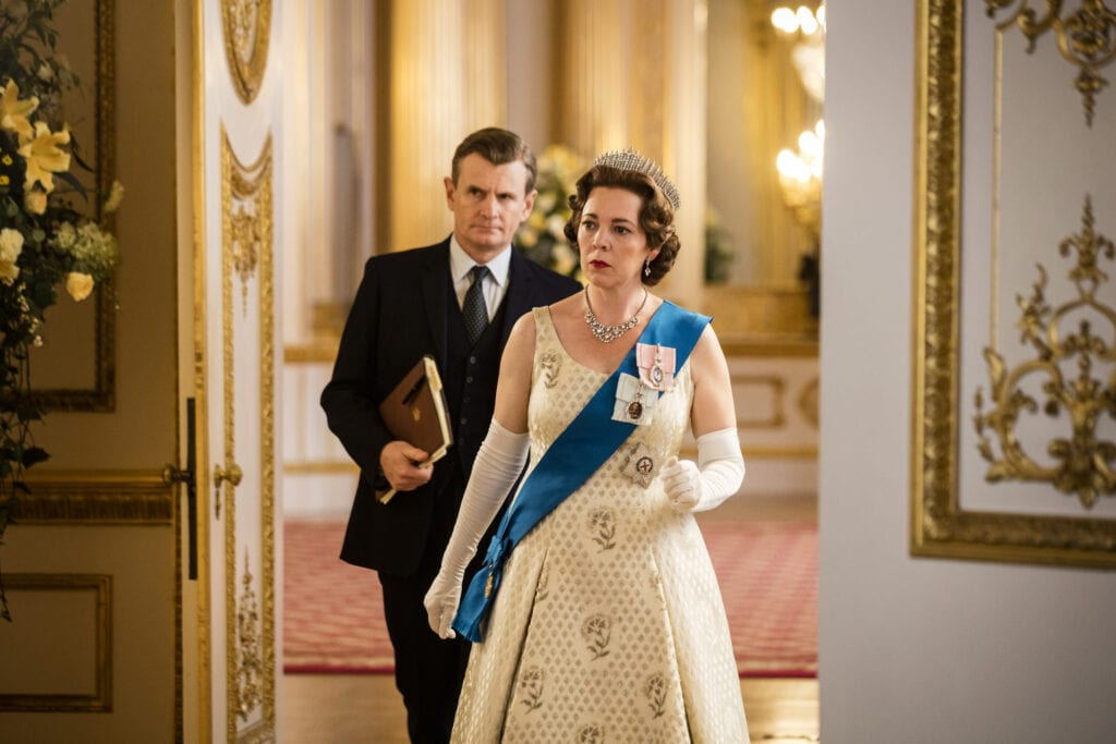 The Crown, nominated for an Emmy, Netflix