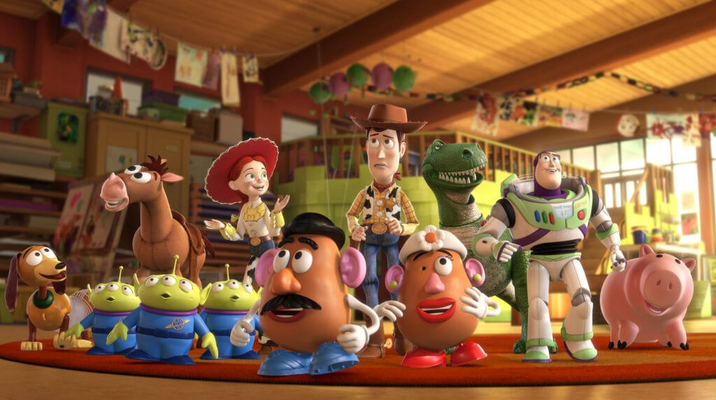 The toys arrive at Sunnyside in Toy Story 3, our #8 pick for best movies to watch before starting college
