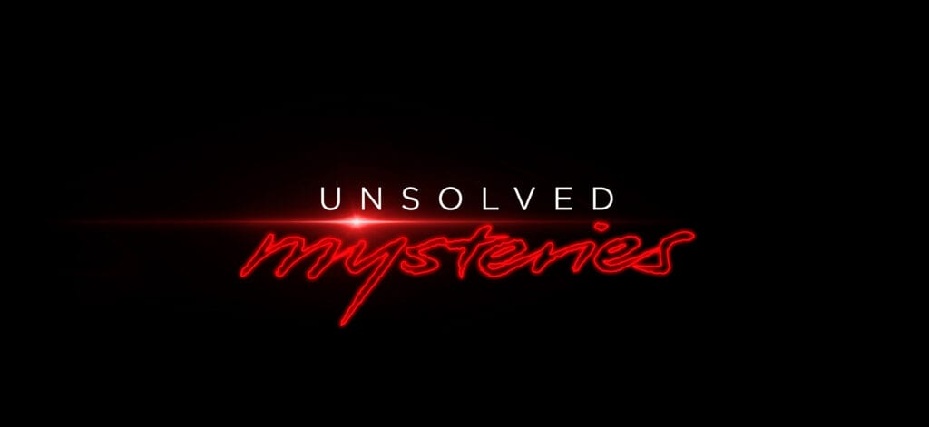 """The logo for the """"Unsolved Mysteries"""" revival on Netflix"""