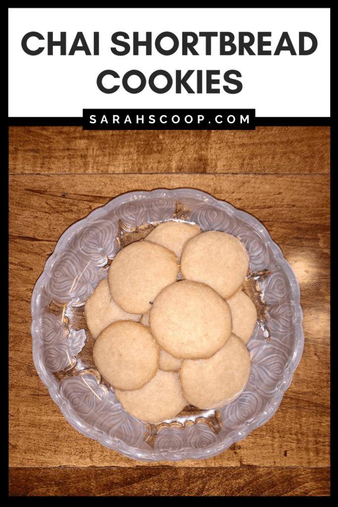 Chai shortbread cookies pinterest