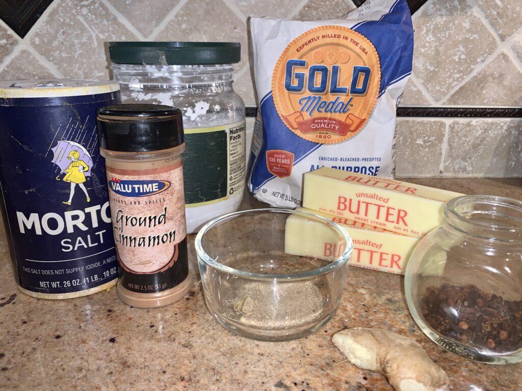 Chai Shortbread Cookies Ingredients