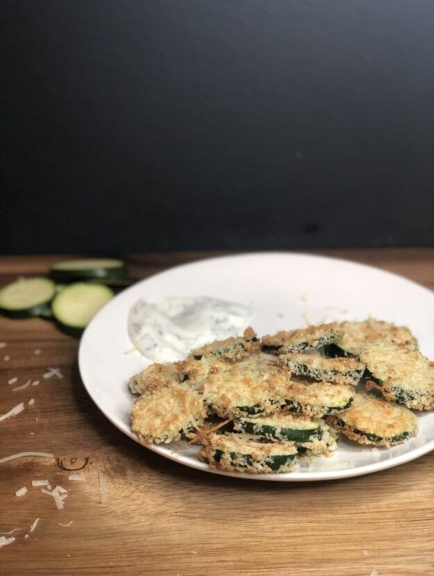 Air Fried Zucchini Parm Bites