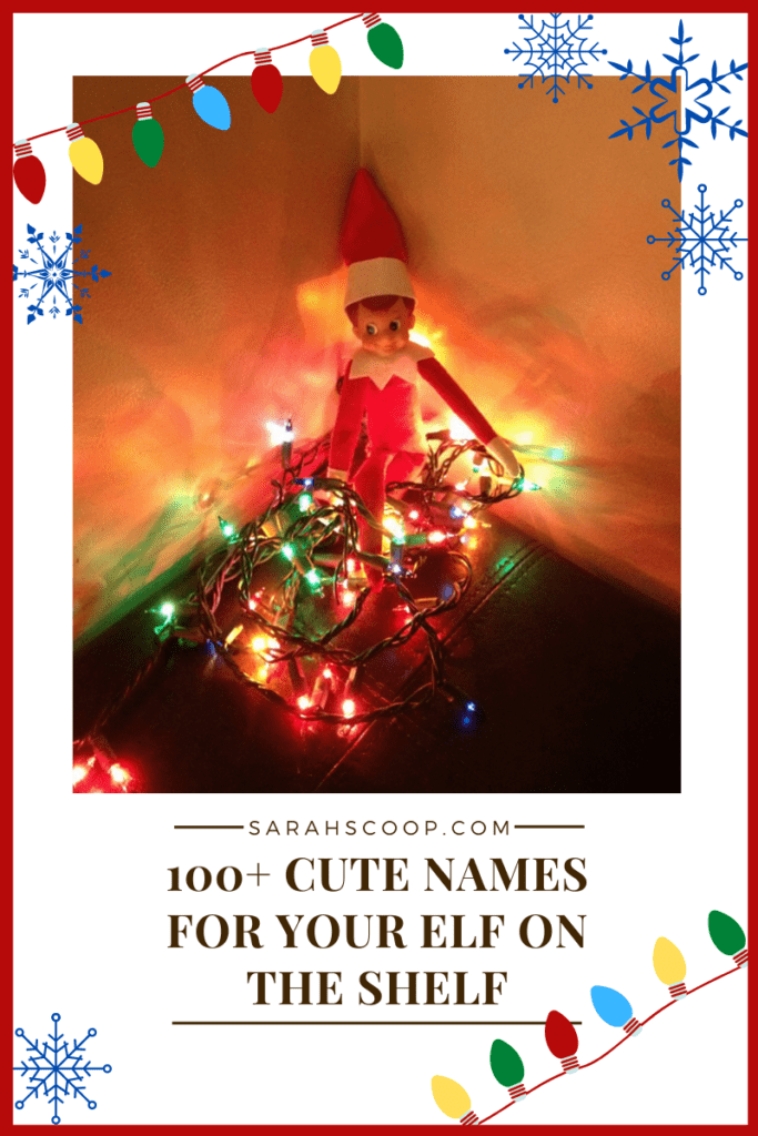 100+ cute names for your elf on the shelf