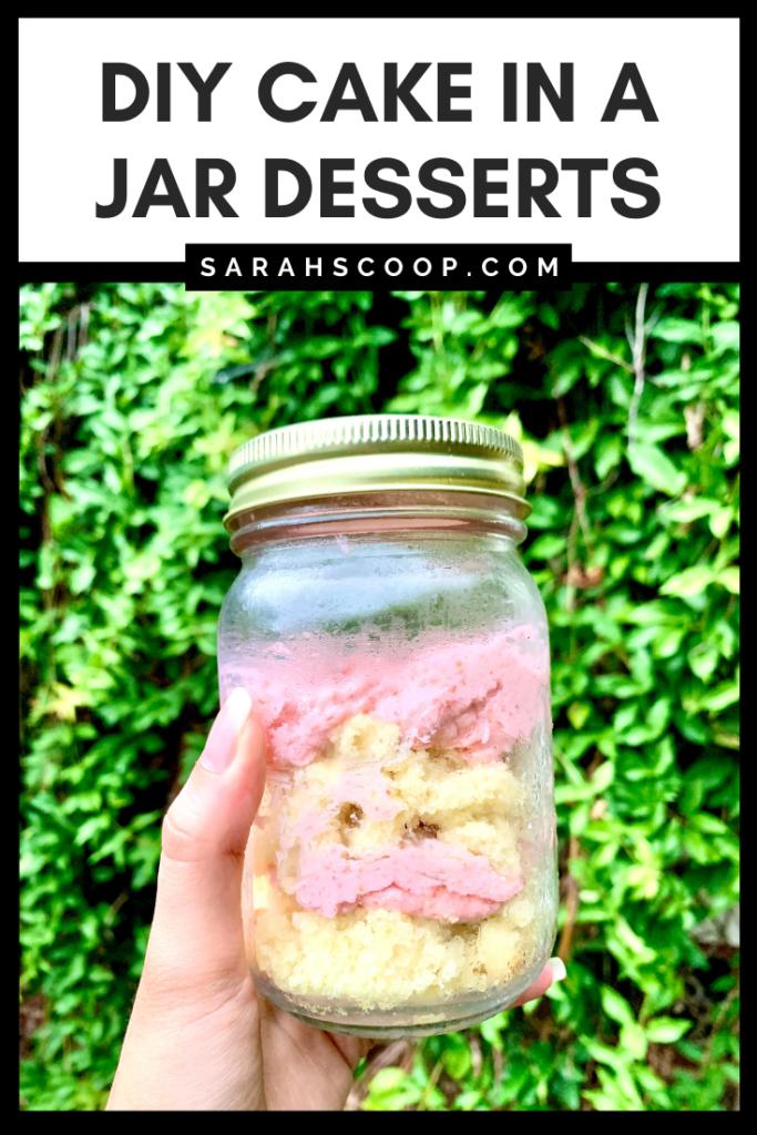 Cake in a jar pinterest