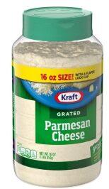 Kraft Grated Cheese, Parmesan Cheese, 16 oz Jar