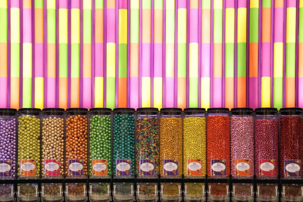 Jars of candies