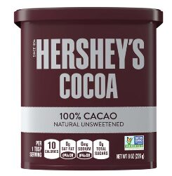 Hershey's Cocoa Powder 100% Cacao, Natural Unsweetened Chocolate, 8 Oz.