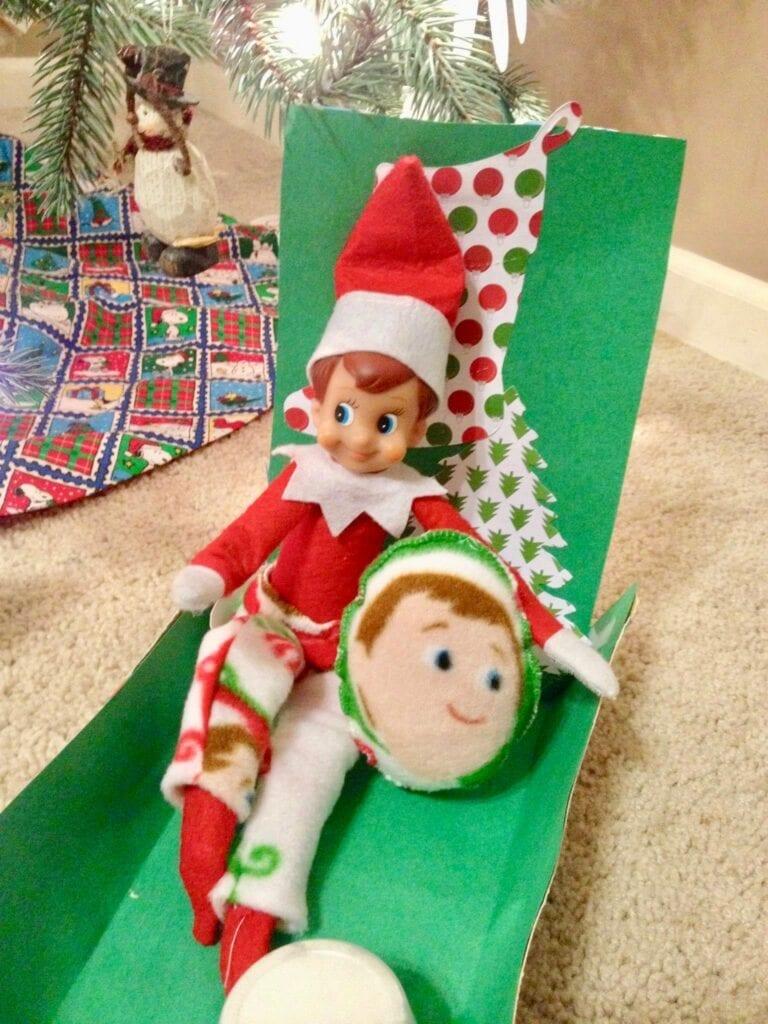 Elf on the Shelf in pajamas