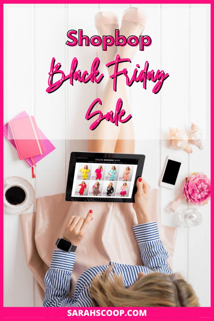 Pinterest Image, Shopbop Black Friday Sale