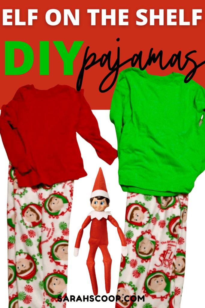 Elf on the Shelf Matching Pajama Pinterest Image