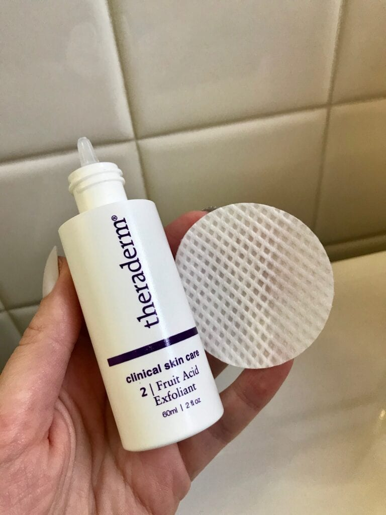 Theraderm Fruit Acid Exfoliant and Gentle Action Application Pad