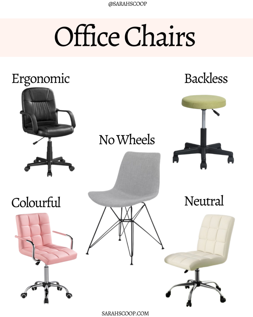 office chairs categories