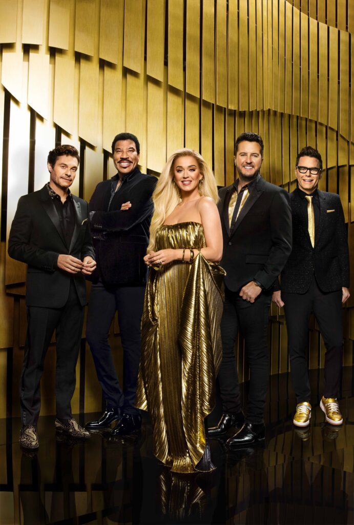 Ryan Seacrest, Lionel Richie, Katy Perry, Luke Bryan, and Bobby Bones.