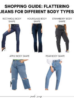 jeans for different body types shopping guide
