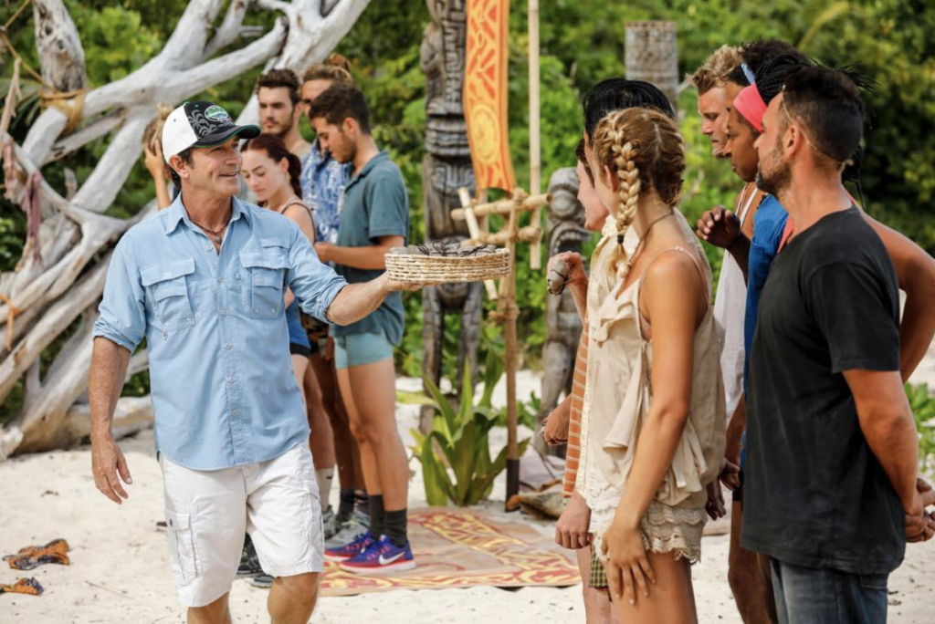Jeff Probst and Survivor players