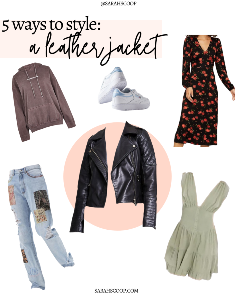 5 ways to style a leather jacket