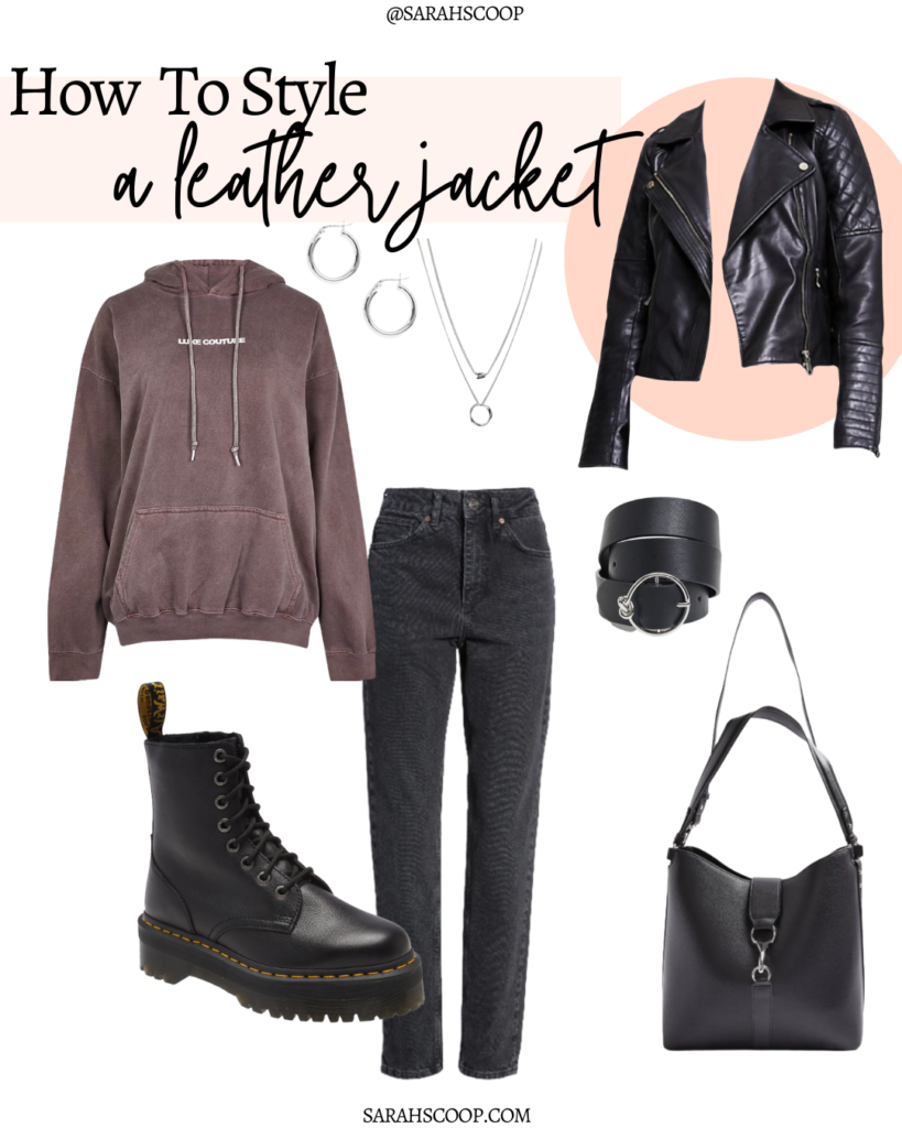 leather jacket simple outfit