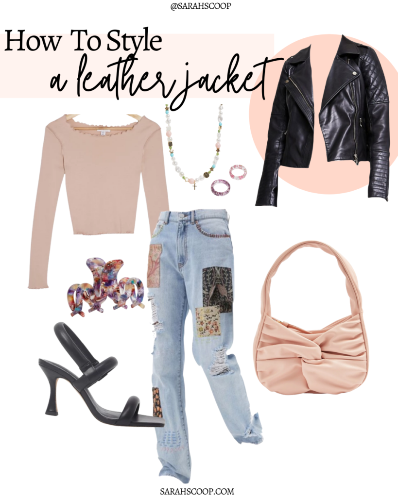patchwork and pastel outfit