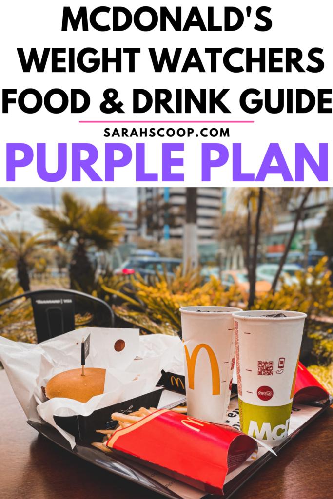 McDonald's weight watchers purple points