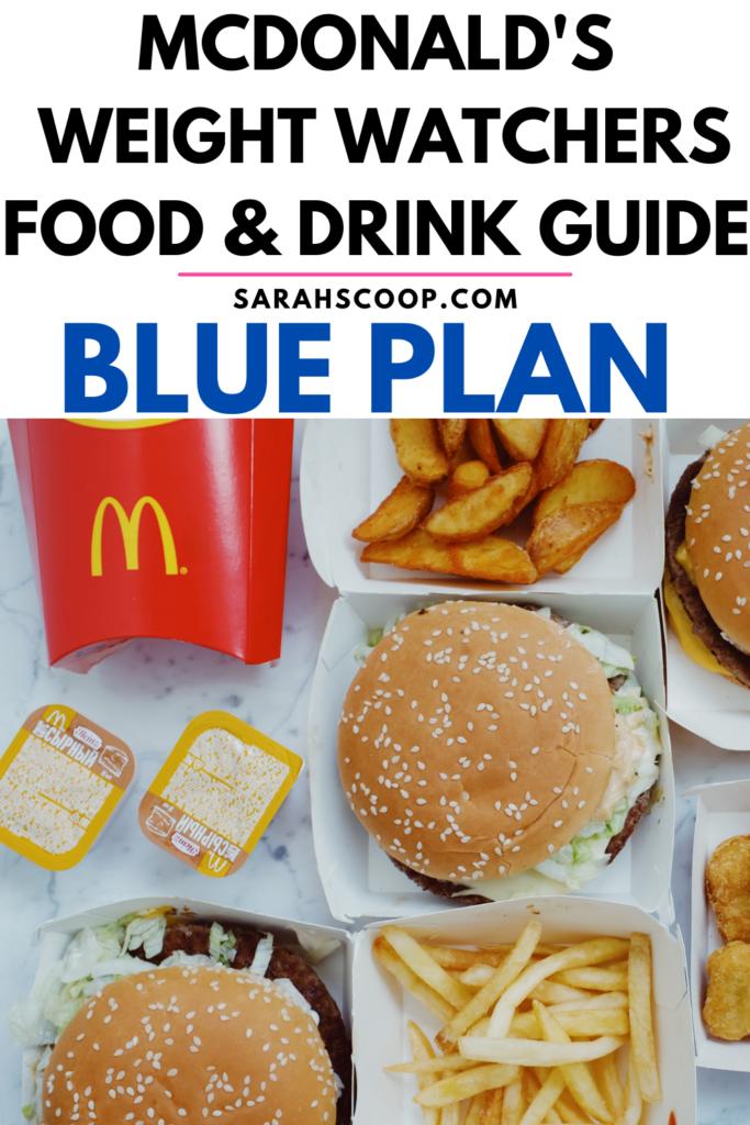 Weight Watchers McDonalds Blue